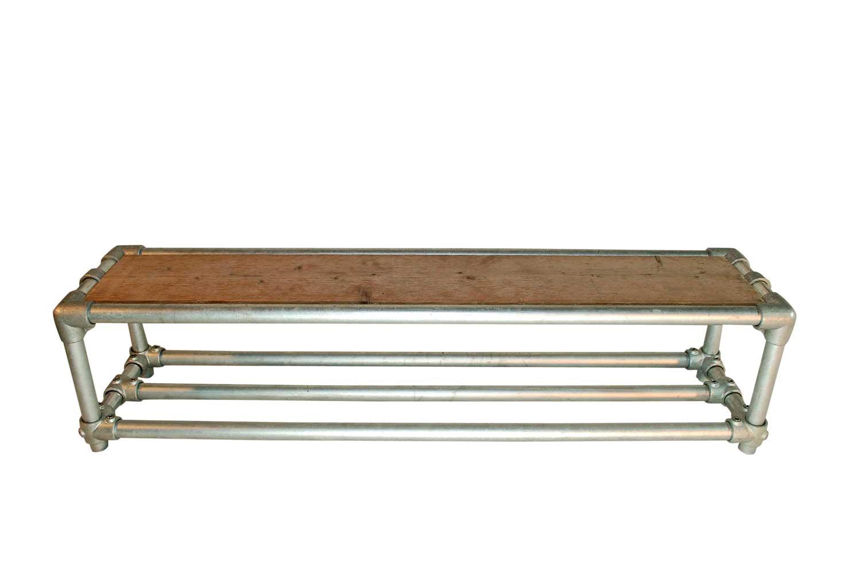 Schoenenrek 100 Cm.Steigerbuis Schoenenrek Double Steel And Wood Huisstaal