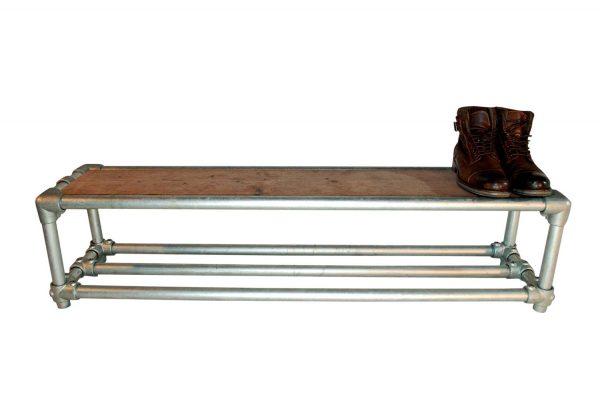 Steigerbuis Schoenenrek Dubble Steal and Wood